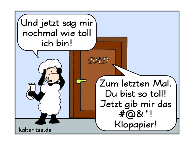 Comic klopapier bad fehlt