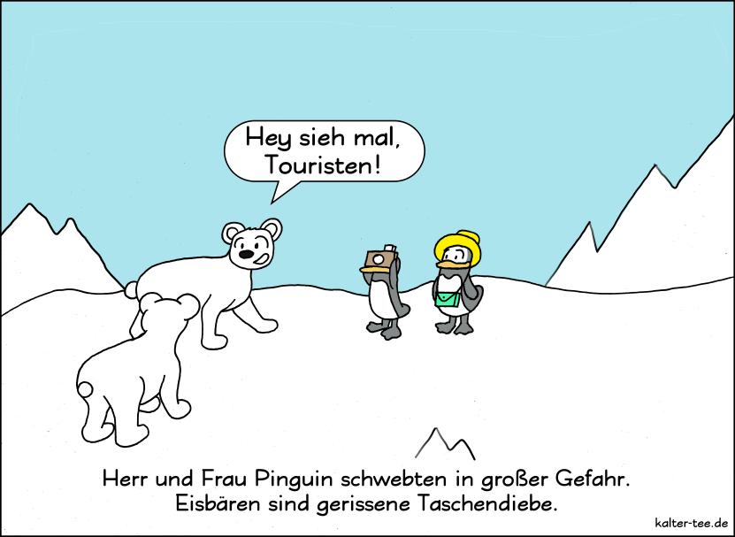 Pinguine Im Urlaub